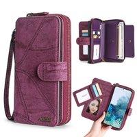 محفظة بو الجلود متعددة الوظائف حقيبة يد حقيبة الهاتف لفون 6 6S زائد 7 8 × XR XS 11 12 برو ماكس SE2020 SAMSUNG S21 S20 Plus Note20 Ultra