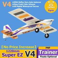 FMS RC Airplane Flugzeug Super EZ V4 Trainer Anfänger mit Gyro Floats optional 3s 4CH PNP Modell Hobbyflugzeug Avion EPA Easy L0306