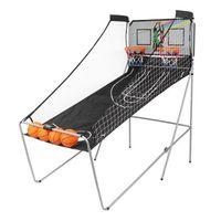 Máquina de basquete Máquina de tiro Basquete Indoor Arcade Jogo Duplo Cesta Eletrônica Tiro 2 pessoas com 4 bolas