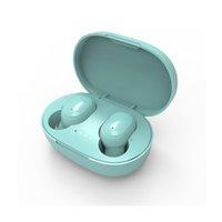 A6S Kulakiçi Kulaklıklar TWS Bluetooth Kulaklık Kulaklık Kulak Müzik Kablosuz Kulaklık Evrensel Cep Telefonu için Renkli Taşınabilir Kulaklık