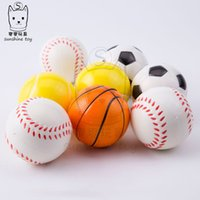 Bola de estrés Squeeze Football Basketball Tenis Baseball Toys Scheezy esponja esponja PU Fun D Fun Balls Squishy Stress Relief Vent Ball H38Q5ux