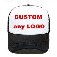 Sombreros de ala ancha 1 unids Logo personalizado camionero sombrero de camionero gorras de béisbol malla de malla sol verano talla regulable tapa hombres mujeres visera impresión