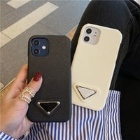 Coffres de téléphone de la créatrice de mode pour iPhone 11 12 Pro Max XR XS 7/8 plus Luxury PU Cuir Protection Shell Coffre de téléphone portable Samsung S20 S21 Note 20
