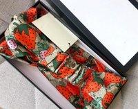 Neue heiße Verkauf Seide elastische Frauen Stirnbänder Mode Mädchen Erdbeer Hair Bands Schal Haar Zubehör Geschenke Heiße Beste Headwrapps