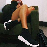 Heißer Verkauf Original Paris Frauen Männer Socke Schuhe Casual Slip-on Schwarz Weiß Rot Geschwindigkeiten Trainer Sport Turnschuhe Top Stiefel Gehen