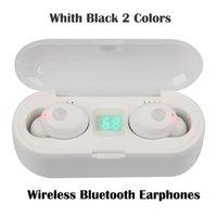 F9 TWS Bluetooth V5.0 Wireless Headphones Stereo Sport Earphones Earbuds Ipx7 Waterproof 8D Surround Sound Headset White Black 2 Colors