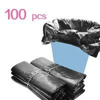 (596x09) Saco de lixo para casa de cozinha descartável de cozinha descartável lixo bolsa de plástico x100