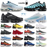 Mannen TN Plus Running Schoenen Sneakers Psychische Hyper Triple Black Blue Voltage Purple Pimento Geel Helder Heren Outdoor Sports Trainers