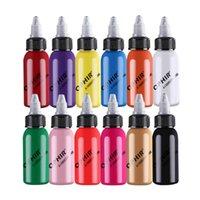 OPHIR 12Colors inchiostri acrilici / inchiostri aerografo per vernice artistico Polish per unghie aerografo 30 ml / bottiglia Pigment_TA100 (1-12)