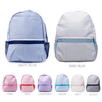 Domil Seersucker School Bags Stripes Cotton Classic Backpack Soft Girl Backpacks personalizzato Boy DOM031