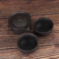 Juego de té de viaje portátil NUEVO Tetera de arcilla púrpura Tetera Quik On One Pot y dos tazas Tetera de la bebida china