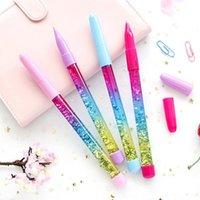 Ballpoint Pens Cute 0.7 мм Радуга Цветная Сказочка Дрейф Песчаный Блеск Кристалл Шариковая Ручка Q1JC