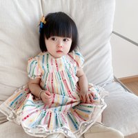 Preciosa moda dulce niñas princesa vestido 2021 verano bebé niña fiesta de encaje vestidos niños ropa de niños 9 meses-150 Tamaño