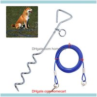 Dog Supplies Home Gardendog Collars & Leashes Outdoor Fixed Pile With Spiral Anti Wrap Knotting Meadow Nail Durable Pet Aessory Leash Tied F