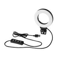 Klip Selfie ile 4 inç Canlı Akış Selfie Yüzük Işık Fotoğrafçılığı Profesyonel Vlog 48 ADET LED Dizüstü Video Konferans Için Taşınabilir