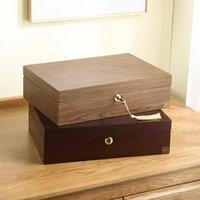 ジュエリーポーチ、バッグの木製の首都贅沢な木製の箱オーガナイザー女性大きいリングネックレスイヤリングジュエリー収納ケースギフト小箱