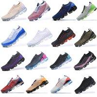 أحذية 2018 2019 Fly Mens Running Shoes Triple Black White Moc 2 Laceless des chaussures Breathable Women Trainers Zapatos Outdoor Sports Sneakers
