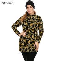 Swim Wear Yongsen Donne Plus Size Swimwear musulmano Modest Patchwork Cover Full Copertura a manica lunga Costume da bagno Islamica Hijab Burkinis Bathing