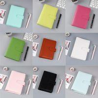 Colorido criativo impermeável Macarons Pasta de mão cader caderno A5 / A6 shell solto-folha bloco de papel de carta Diário capa para estudantes