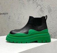남성 여성 부츠 타이어 US12 Bottega Storm Leather High Boot Real Leather Shoes 크리스탈 야외 마틴 Chaussures 드 디자이너 플랫폼