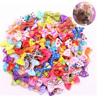 Dog Hair Bows with Rubber Bands Pet Hair Clips DH8888