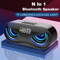 Portable Bluetooth Haut-parleur Caixa de Som Portatil Portail Puissant Subwoofer Boombox Boombox Bass Bass Haut-parleurs USB FM Radio LED lumière