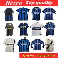 Retro Soccer Jersey 2009 2009 2010 Milito Sneijder Zanetti Zamorano Pizarro Adriano Fußball Mailand 1997 Djorkaeff Baggio Ronaldo Inter 02 03 04