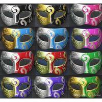 Mens Halloween Gladiatore Romano Gladiatore Party Vintage Masquerade Knight Baron Maschera veneziana Dztk