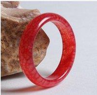 الصينية الطبيعية الجميلة نادرة الحجر الدم اليشم الإسورة سوار اليدوية 56-62 ملليمتر