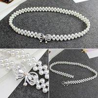 Belts Versatile Waist Pearl Bow Flower Chain Dress Sweety Women Belt Wedding Designer Female Waistband