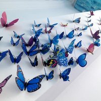 Wall Stickers 12pcs lot Colorful Butterfly Fridge Magnets 3D Design Art Room Magnetic Home Decor DIY Decoration
