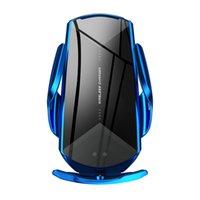 새로운 Q2 스마트 센서 자동차 무선 충전 홀더 QI 10W 빠른 충전기 휴대 전화 홀더 스탠드