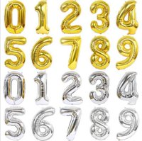 Hot Sell Huge 40 Inch Balloons Silver Rose Gold Giant Number Balloons for Wedding Birthday Party Supplieri90n