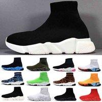 Top Quality Black White Speed Trainer Sapatos Casuais Homem Mulher Meias Botas com Caixa Estiramento-Knit Botas Casuais Corredor Race Cheap Best Ty5c