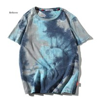 Men's T-Shirts Men T Shirt Summer Cotton Oversize Tie-dye Tshirt Streetwear Hip Hop Harajuku Short Sleeve Fashion Casual