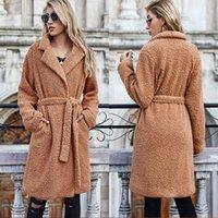 2021 New Mulheres Inverno Casacos Casuais Lapela Cardigan Engrossado Quente Outwear Bolha Fleve Jaqueta Feminina Longo Casaco Cin K768