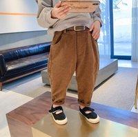 2021 Новый стиль девушки мальчики Boys vorduroy брюки хлопок весенние мода дети длинные брюки 2-7t yx284