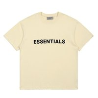 21SS INS HEIßER Frühling Sommer Hip Hop Angst vor Gott Front Essentials 3D Silikon T-Stück Skateboard T-Shirt Nebel Männer Frauen Kurzarm Casual T-Shirt