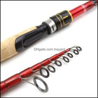 Boat Rods Sports & Outdoors1.8M 2.1M 2.4M 2.7M Wooden Handle Carbon Spinning Lure Rod Portable Travel Fishing Pole Trout Drop Delivery 2021