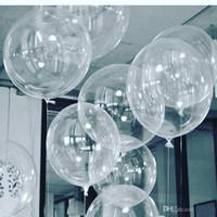 50 pcs Não Winkles Balões de PVC transparentes 10/18/24 polegadas Clear Bubble Helium Globos Casamento Festa de Aniversário Decoração Hélio Balaos Kid Toys Ball