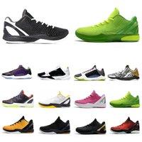 Nike Kobe Bryant  الأزياء bhm grinch proto 6 رجل كرة السلة الأحذية 6s أعتقد الوردي الأسود ديل سول الرجال المدربين لينة الرياضة الرياضية أحذية رياضية 40-46