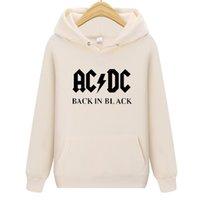 Herren Hoodies Sweatshirts Hoodie Musik Brief AC / DC Band Rock Printed Sweatshirt Männer Herbst ACDC Grafik Oansatz Lose Hoody