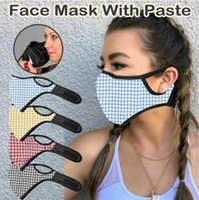 Fashion Designer Checkered Print Mask PM2.5 Filter Stick Unisex Adult Breathable Mask Outdoor Windproof And Dustproof Bicycle Mask