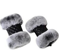 Women gloves cool classic Original design riding sheepskin driving cute Touch screen Cold protection soft lambskin outdoor Diamond lattice Half finger glove