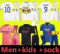 2021 2022 레알 마드리드 축구 유니폼 위험 홈 멀리 성인 셔츠 Asensio ISCO Marcelo 레트로 02 03 키트 키트 축구 유니폼