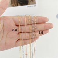 Fashion 3 3.5mm Link Chain Necklaces For Women Men Vintage Copper Choker Statement Chains Necklace 3 Colors