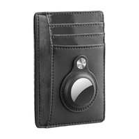 Card Holders Durable Purse Small Portable Storage With Tracker Case Minimalist Money Ultra Slim PU Leather Pocket Men Wallet Holder