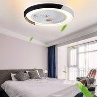 Вентилятор лампы Bluetooth приложение Smart потолочный вентилятор с легкими вентиляторами пульта дистанционного управления с огнями Air Cool спальня Decor 50см современный
