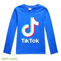 11 Renkler 100-170 cm Tiktok Çocuklar Gençler Kazak T Gömlek Hoodies Pamuk Malzeme Uzun Kollu Bluzlar Erkek Kız Müzik Notu Baskı Spor Rahat G909x9F Tops