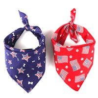 Dog Apparel Bandanas American Flag Cat Puppy Scarfs Independence Day Bibs Pet Costume Accessories